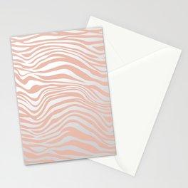 Rose Gold Tiger Stripes Stationery Cards
