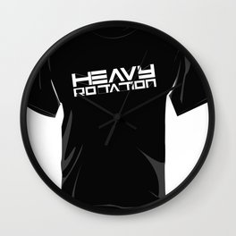 HEAVY ROTATION WHITE - OUTLINED Wall Clock