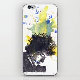 Portrait of Bob Dylan in Color Splash iPhone Skin