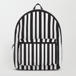 Vertical Black and White Stripes Backpack