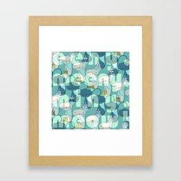 eeny, meeny, miny, meow! Framed Art Print