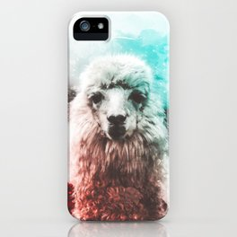Llama Abstract Watercolor Painting iPhone Case