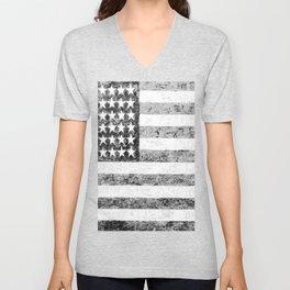 Grunge American Flag Unisex V-Neck