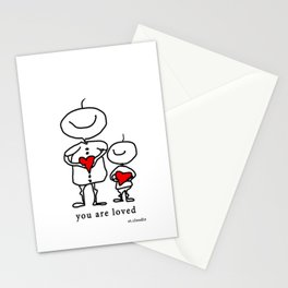 you are loved Stationery Cards