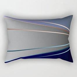 Blue, gray, light blue Rectangular Pillow