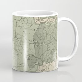 Vintage White Mountains New Hampshire Map (1915) Coffee Mug