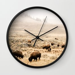A Snow Storm Blowing In Wall Clock