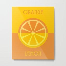 orange / lemon Metal Print