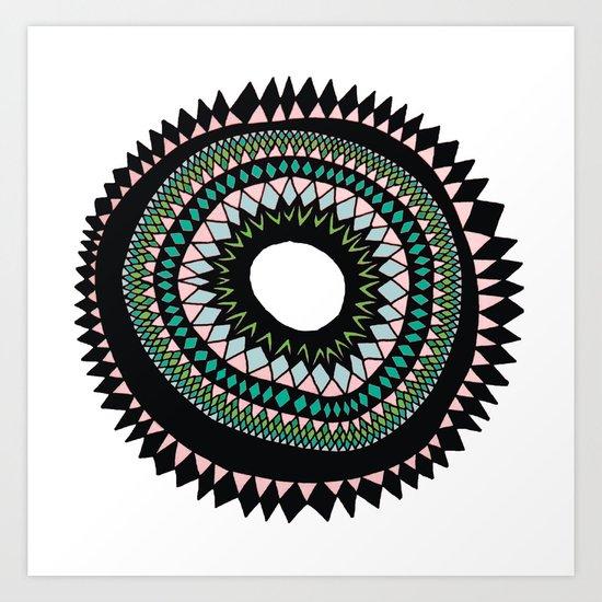 Patterned Sun Art Print