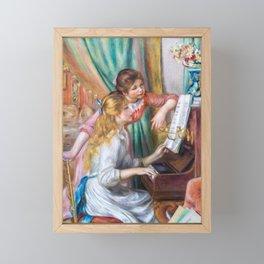 Pierre Auguste Renoir - Girls at the Piano Framed Mini Art Print