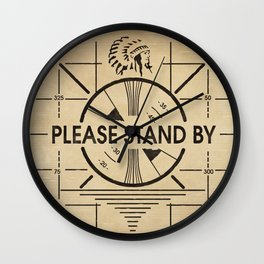Please Stand By Wall Clock