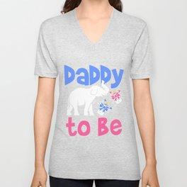 Daddy Pregnancy Announcement Unisex V-Neck