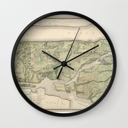 1874 Topographical Atlas of New York City (Manhattan/New Amsterdam) Wall Clock