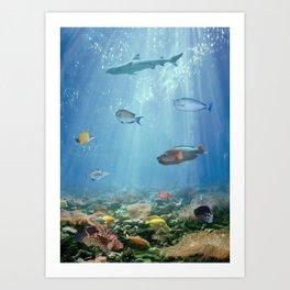 Hawaiian Waters Fish Art Print