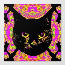 Purple Streak Quad Cat Canvas Print