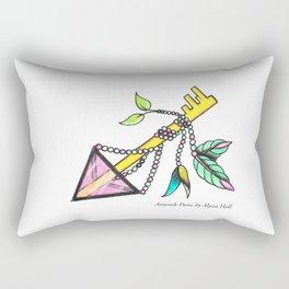 Rose Key.  Rectangular Pillow