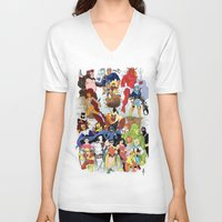 teen titans V-neck T-shirts featuring Teen Titans by poopsmoothie