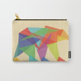 Fractal Geometric bear Carry-All Pouch