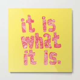 what it is yellow square Metal Print