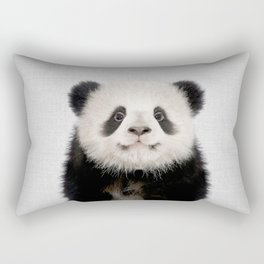Panda Bear - Colorful Rectangular Pillow