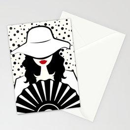 Stylish woman Stationery Cards