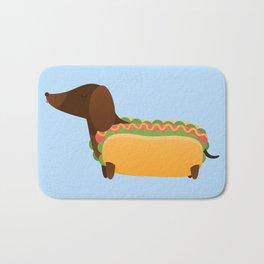 Wiener Dog in a Bun Bath Mat