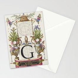 Letter G Calligraphy Vintage Illustration Lettering Stationery Cards