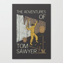 Books Collection: Tom Sawyer Canvas Print