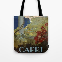 Isle of Capri Italian travel ad Tote Bag