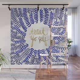 Treat Yo Self – Gold & Navy Wall Mural