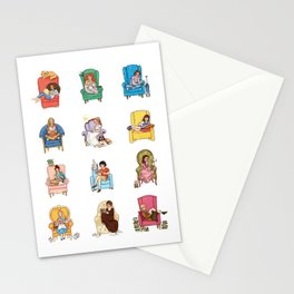 Reading fictional characters Stationery Cards