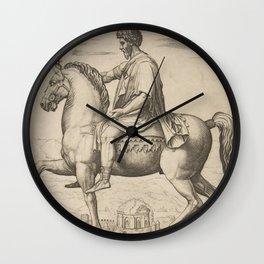 Vintage Emperor Marcus Aurelius Illustration (1527) Wall Clock