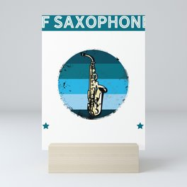 If Saxophone Was Easy They'd Call It Trumpet, Vintage Retro Gift for Saxophone Player Mini Art Print