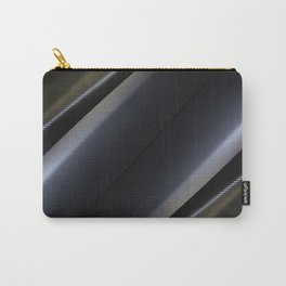 Mat black and silver wrap foil Carry-All Pouch