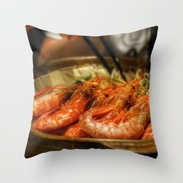 Beautiful Food by Jerry Shen Throw Pillow