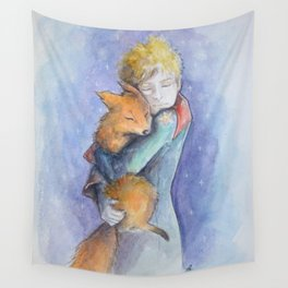 The little Prince and the fox Wall Tapestry