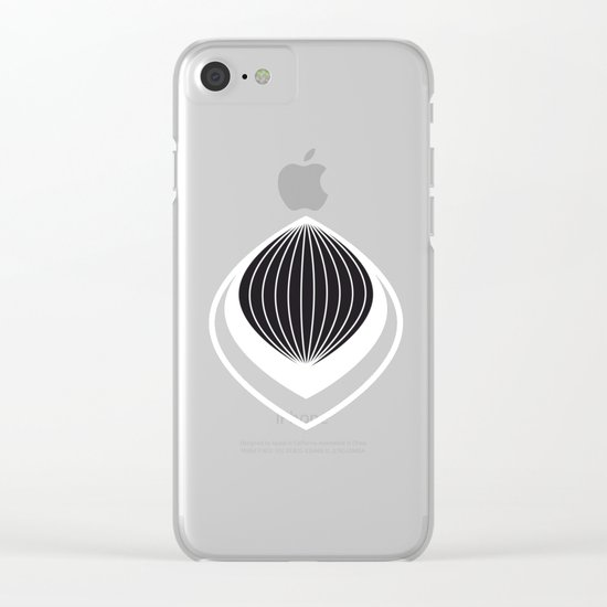 Peacock-Lampions Clear iPhone Case
