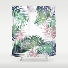 palm leaves tropical Shower Curtain