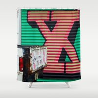 the xx Shower Curtains featuring XX by leaff