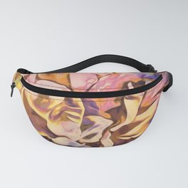 Painted Peony Yellow Fanny Pack