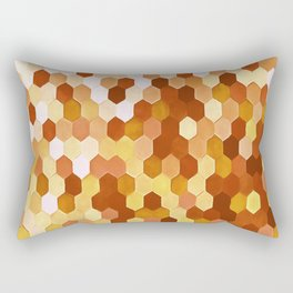 Honeycomb Pattern In Warm Mead and Honey Colors Rectangular Pillow