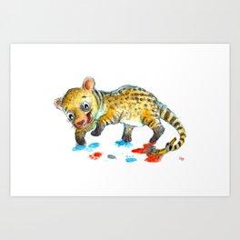 Painting Civet Art Print
