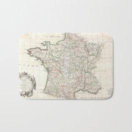 Vintage Map of France (1771) Bath Mat