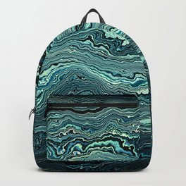 Emerald topography map Backpack