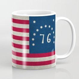 1776 Bennington flag - Vintage Stone Textured Coffee Mug