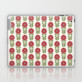 Dot Floral in Red Laptop & iPad Skin