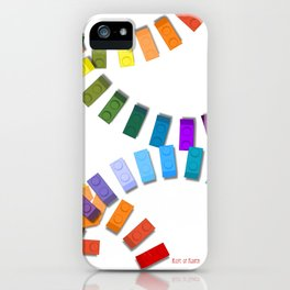 Colorful interlocking block pattern iPhone Case
