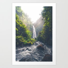 Indonesian Waterfall Art Print