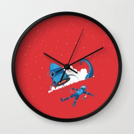 The lunatic is on the grass Wall Clock