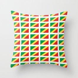 Flag of congo -congolais,congolaise,congolese,brazzaville,kongo,sangha,teke, m'bochi Throw Pillow